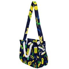 Seamless Brazilian Carnival Pattern With Musical Instruments Rope Handles Shoulder Strap Bag by Vaneshart