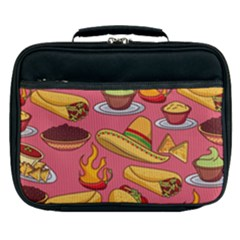 Seamless Pattern Mexican Food Hat Traditional Lunch Bag