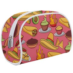 Seamless Pattern Mexican Food Hat Traditional Makeup Case (large)