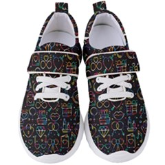 Seamless Pattern With Love Symbols Women s Velcro Strap Shoes by Vaneshart