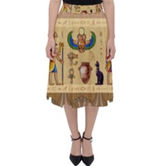 Egypt Horizontal Illustration Classic Midi Skirt by Vaneshart