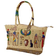 Egypt Horizontal Illustration Canvas Shoulder Bag
