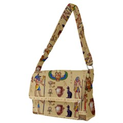 Egypt Horizontal Illustration Full Print Messenger Bag (m) by Vaneshart