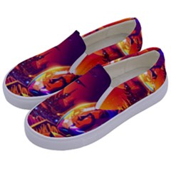 Far Future Human Colonization Kids  Canvas Slip Ons by Vaneshart
