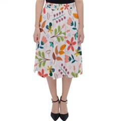 Colorful Ditsy Floral Print Background Classic Midi Skirt