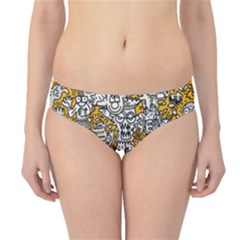 Hand Drawn Vector Illustration Doodle Funny World Hipster Bikini Bottoms