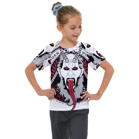 Krampus Kids  Mesh Piece Tee by Bejoart