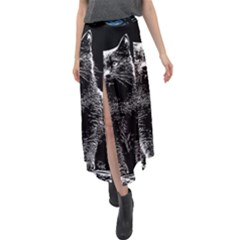 Cat #1 Velour Split Maxi Skirt