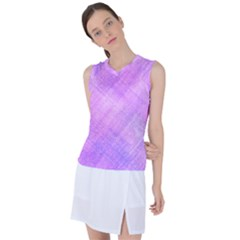 Plaid In Pink Women s Sleeveless Sports Top by Sbari