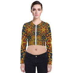 Yuppie And Hippie Art With Some Bohemian Style In Long Sleeve Zip Up Bomber Jacket