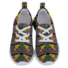 Plumeria And Frangipani Temple Flowers Ornate Running Shoes by pepitasart