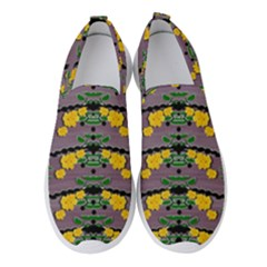 Plumeria And Frangipani Temple Flowers Ornate Women s Slip On Sneakers by pepitasart