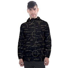 Abstract Math Pattern Men s Front Pocket Pullover Windbreaker by Vaneshart