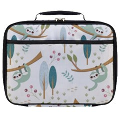 Pattern Sloth Woodland Full Print Lunch Bag by Vaneshart