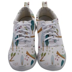 Pattern Sloth Woodland Mens Athletic Shoes