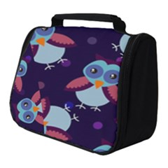 Owl Pattern Background Full Print Travel Pouch (small)