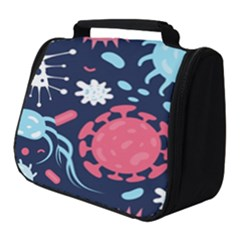 Seamless Pattern Microbes Virus Vector Illustration Full Print Travel Pouch (small)