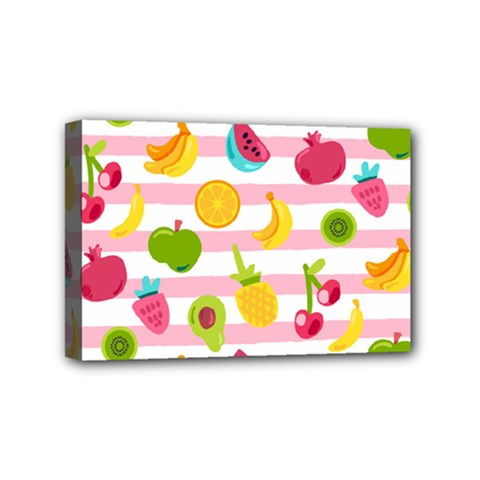Tropical Fruits Berries Seamless Pattern Mini Canvas 6  X 4  (stretched)