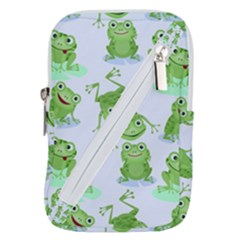 Cute Green Frogs Seamless Pattern Belt Pouch Bag (small)