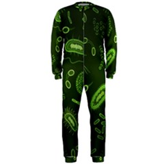 Bacteria Virus Seamless Pattern Inversion Onepiece Jumpsuit (men)  by Vaneshart