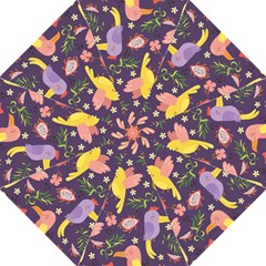 Exotic Seamless Pattern With Parrots Fruits Golf Umbrellas by Vaneshart