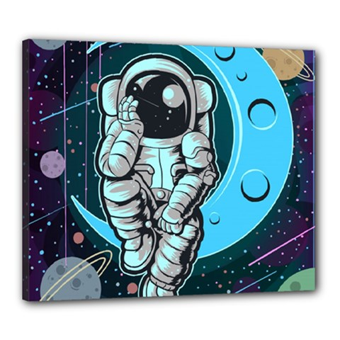 Astronaut Full Color Canvas 24  X 20  (stretched)