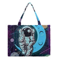 Astronaut Full Color Medium Tote Bag