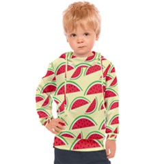 Watermelon Pattern Kids  Hooded Pullover by Vaneshart