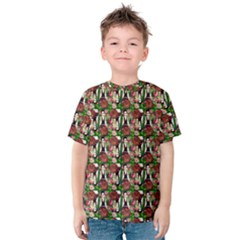 Swimmer 20s Green Kids  Cotton Tee