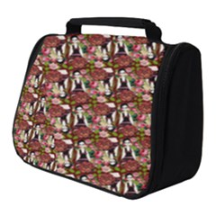 Swimmer 20s Burgundy Full Print Travel Pouch (small) by snowwhitegirl