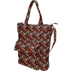 Swimmer 20s Burgundy Shoulder Tote Bag by snowwhitegirl