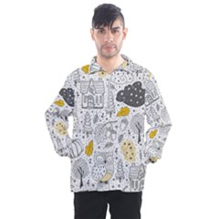Doodle Seamless Pattern With Autumn Elements Men s Half Zip Pullover