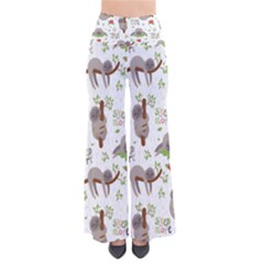 Seamless Pattern With Cute Sloths Sleep More So Vintage Palazzo Pants