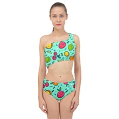 Various Fruits With Faces Seamless Pattern Spliced Up Two Piece Swimsuit
