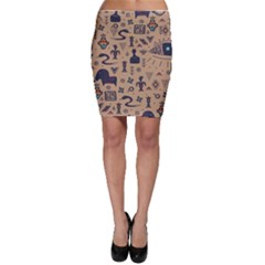 Vintage Tribal Seamless Pattern With Ethnic Motifs Bodycon Skirt