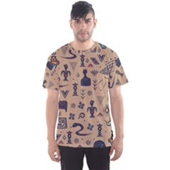 Vintage Tribal Seamless Pattern With Ethnic Motifs Men s Sports Mesh Tee