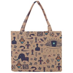 Vintage Tribal Seamless Pattern With Ethnic Motifs Mini Tote Bag