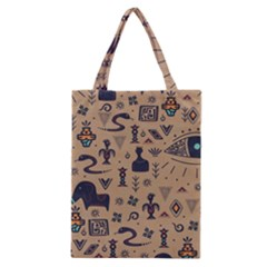 Vintage Tribal Seamless Pattern With Ethnic Motifs Classic Tote Bag