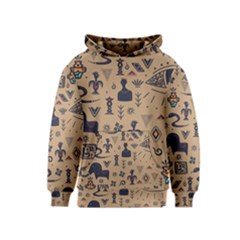 Vintage Tribal Seamless Pattern With Ethnic Motifs Kids  Pullover Hoodie