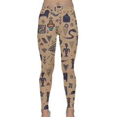 Vintage Tribal Seamless Pattern With Ethnic Motifs Classic Yoga Leggings