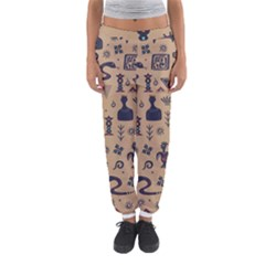 Vintage Tribal Seamless Pattern With Ethnic Motifs Women s Jogger Sweatpants