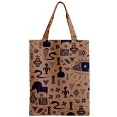 Vintage Tribal Seamless Pattern With Ethnic Motifs Zipper Classic Tote Bag