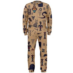 Vintage Tribal Seamless Pattern With Ethnic Motifs OnePiece Jumpsuit (Men)