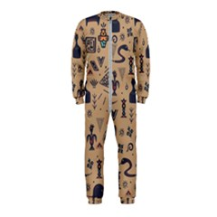 Vintage Tribal Seamless Pattern With Ethnic Motifs OnePiece Jumpsuit (Kids)
