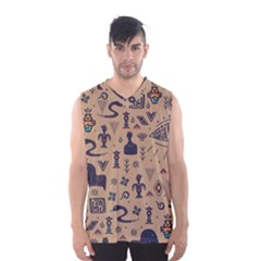 Vintage Tribal Seamless Pattern With Ethnic Motifs Men s Basketball Tank Top