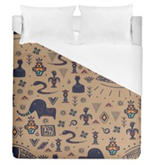 Vintage Tribal Seamless Pattern With Ethnic Motifs Duvet Cover (Queen Size)