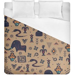 Vintage Tribal Seamless Pattern With Ethnic Motifs Duvet Cover (King Size)