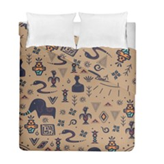 Vintage Tribal Seamless Pattern With Ethnic Motifs Duvet Cover Double Side (Full/ Double Size)