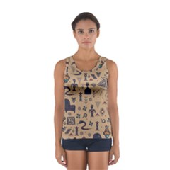 Vintage Tribal Seamless Pattern With Ethnic Motifs Sport Tank Top