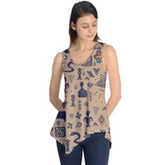 Vintage Tribal Seamless Pattern With Ethnic Motifs Sleeveless Tunic